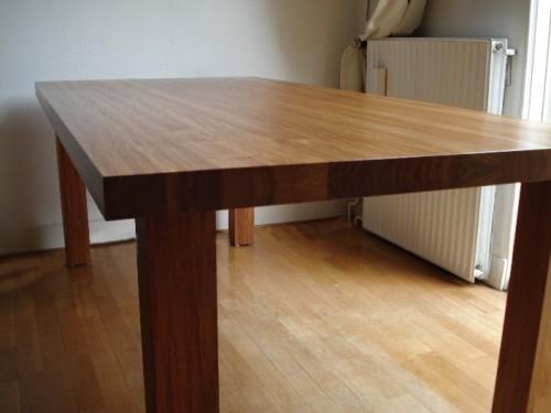 Massief houten Salomon Padoek eetafel (1)