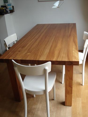 Massief houten Salomon Padoek eetafel (3)