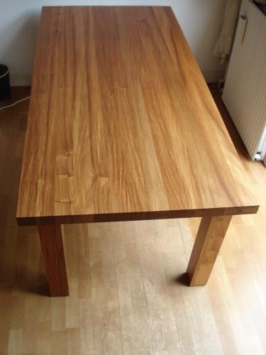 Massief houten Salomon Padoek eetafel (4)